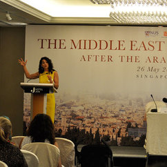 Erakat Presents at Conference on Middle East Peace Process