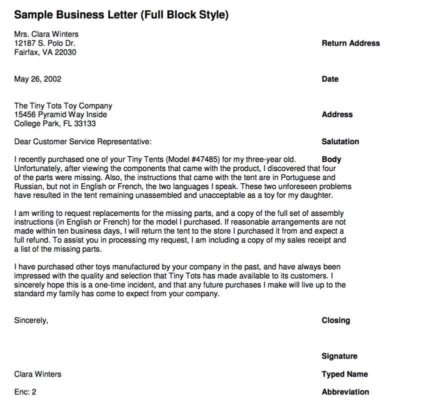 Writing Business Letters Guides