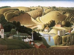 Grant Wood, Stone City Iowa