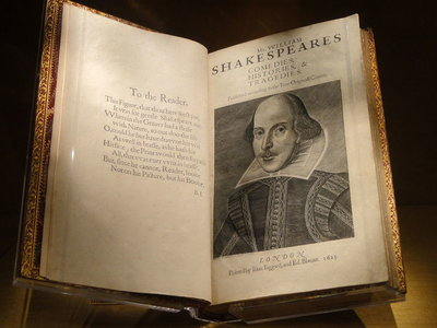 Book of Shakespeare in Folger Library