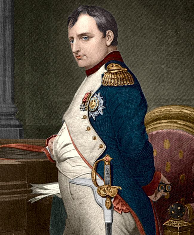Napoleonbonaparte coloured drawing