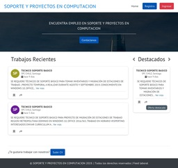SOPORTE Y PROYECTOS EN COMPUTACION