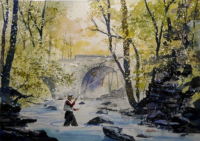 Fisherman_under_bridge