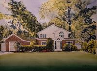 House Portrait - 16 X 20 inch watercolor