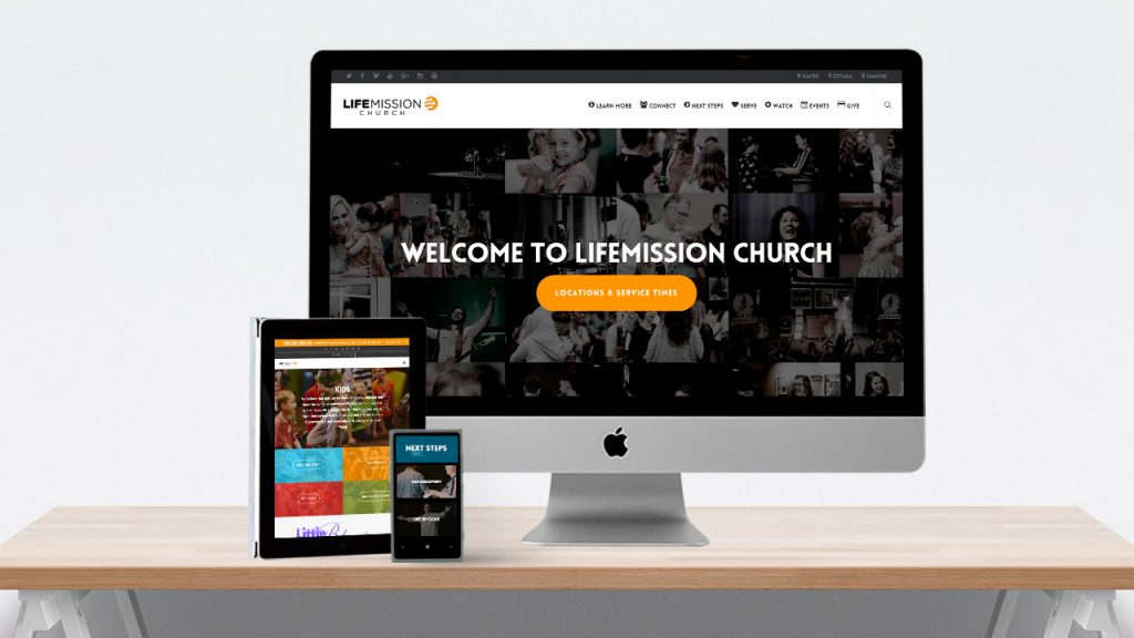LifeMission Church Website Design Salient Theme Church Brand Guide