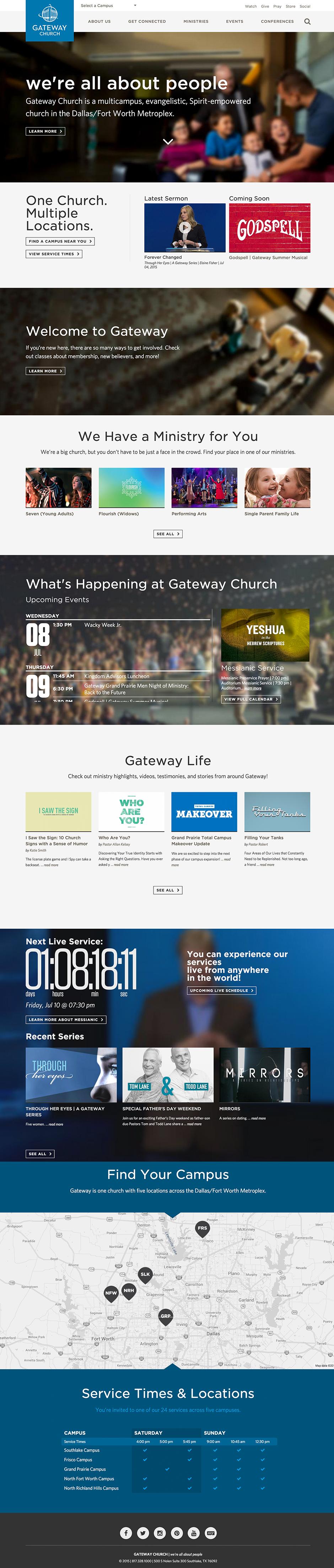 Modern Church Website Design