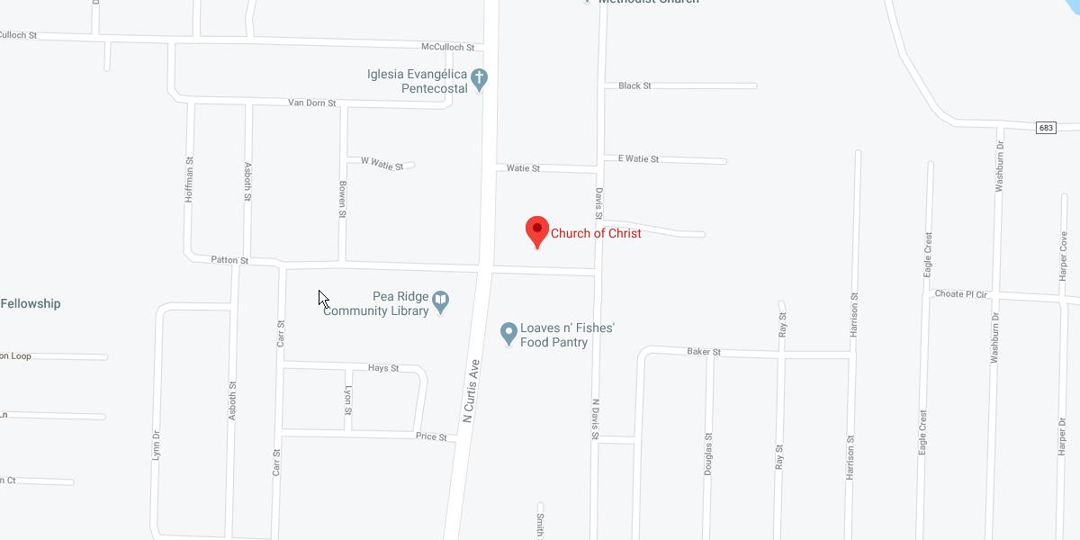 Pea Ridge Church of Christ - map