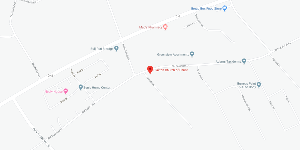Claxton church of Christ - map