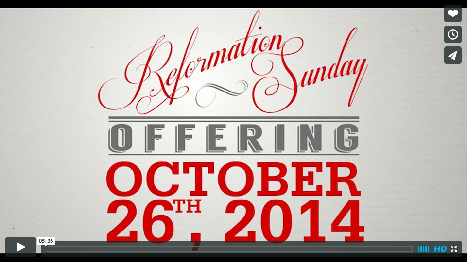 Reformation Sunday 2014