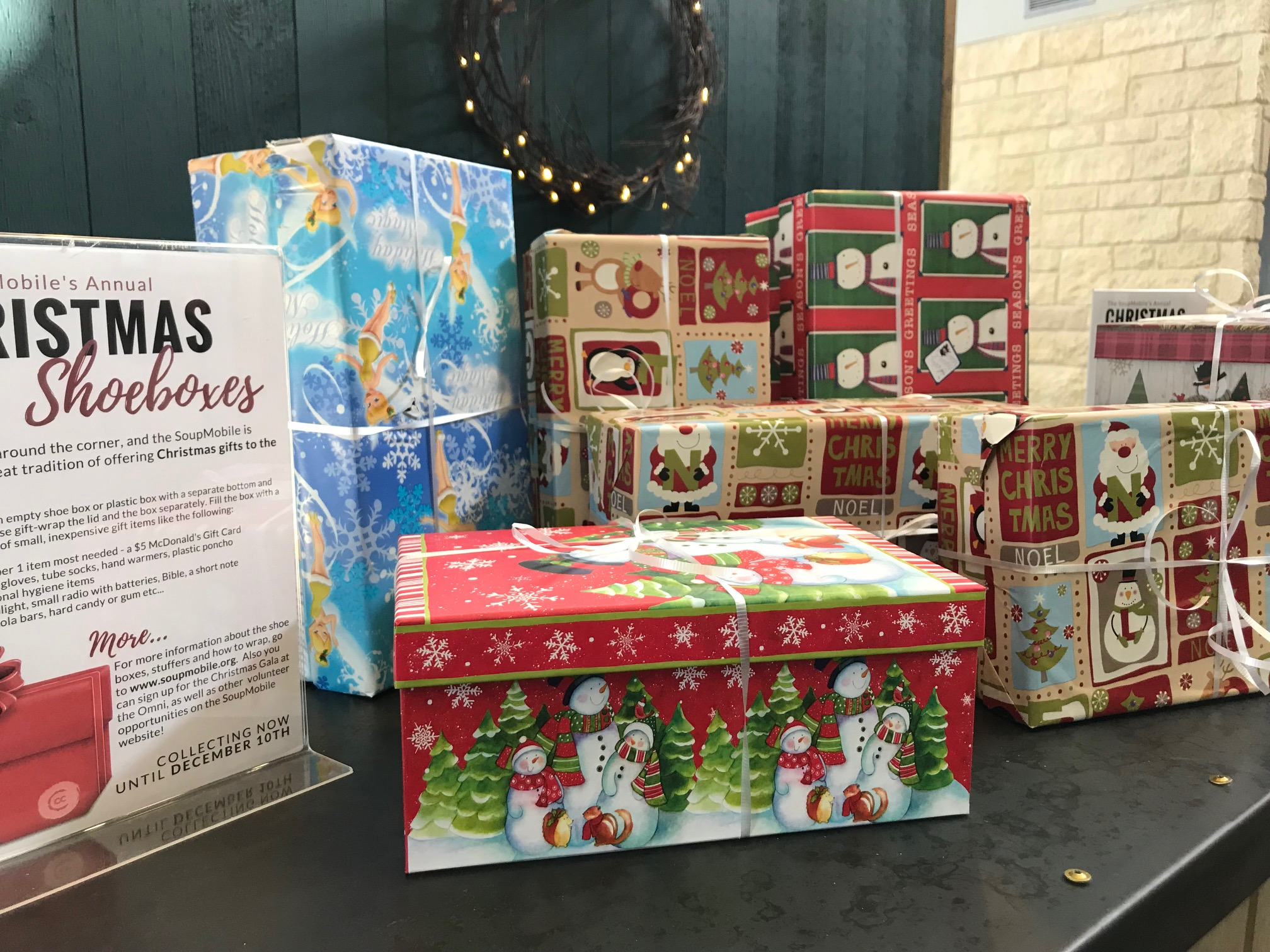 CC Cares shoeboxes 2 2017