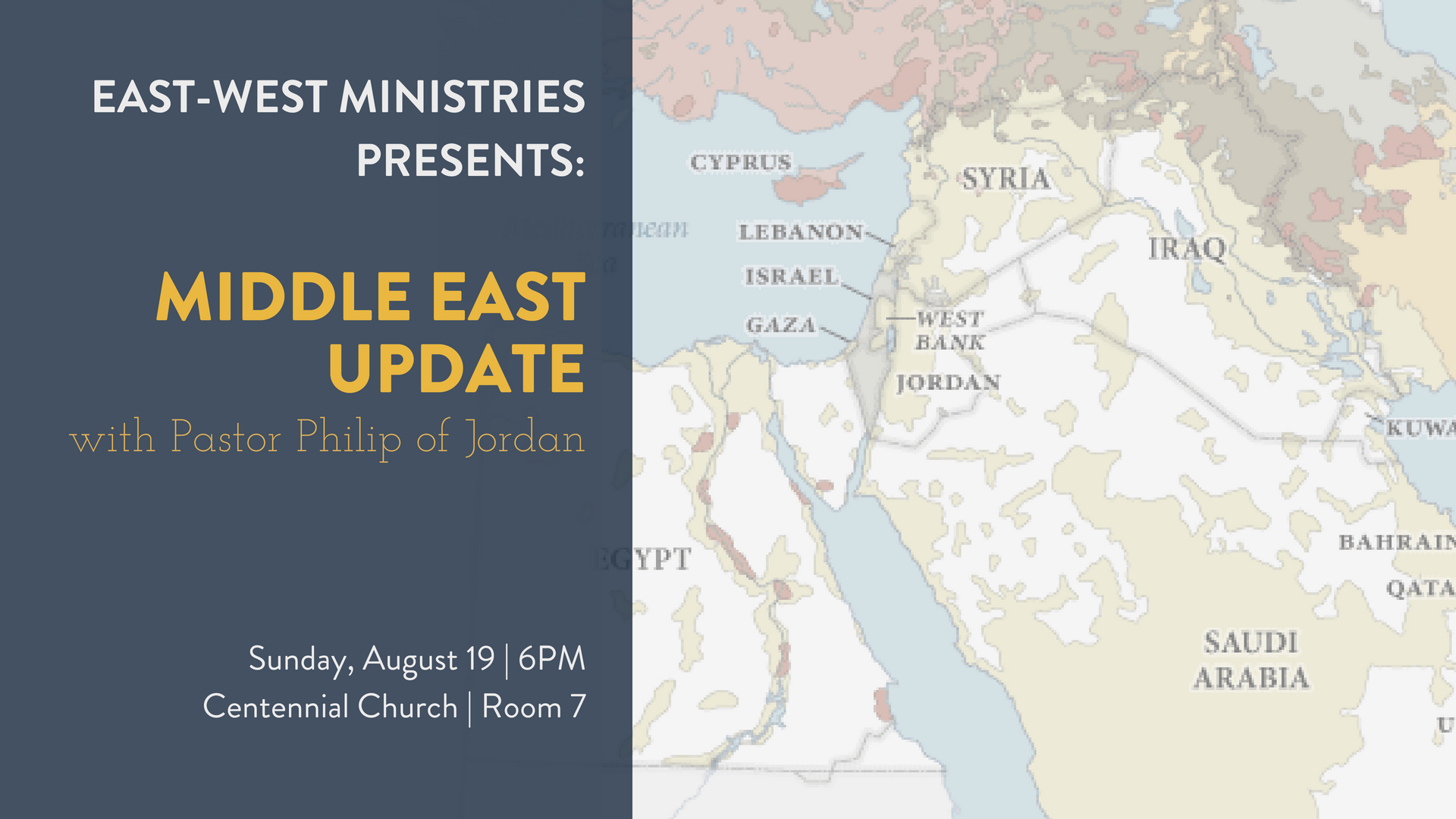 eNews - Middle East Update East West Ministries - 1000x645
