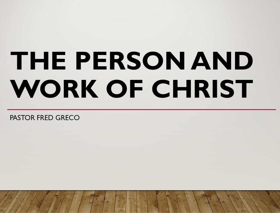 Person and Work of Christ banner