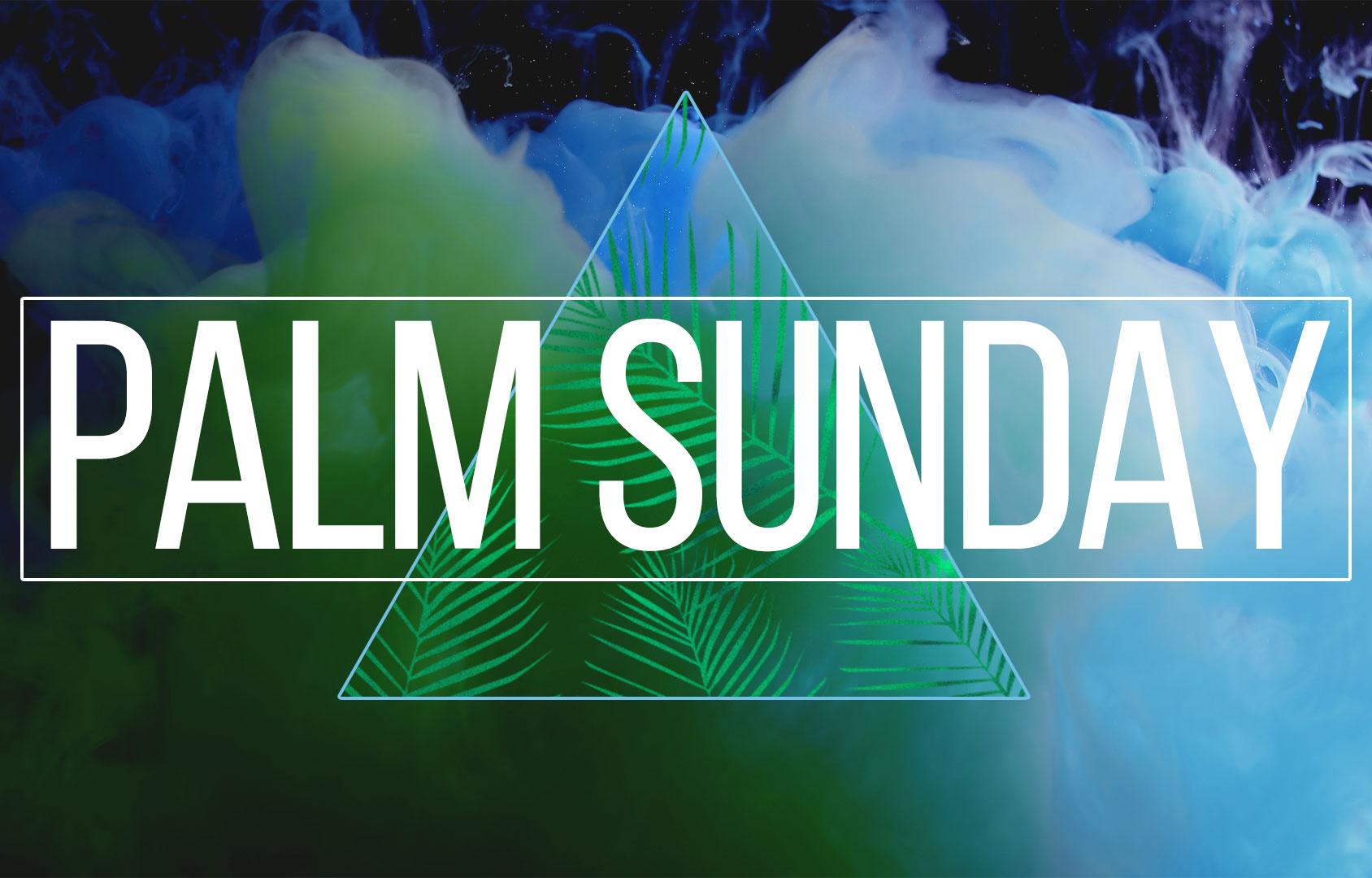 Palm Sunday 2018 banner