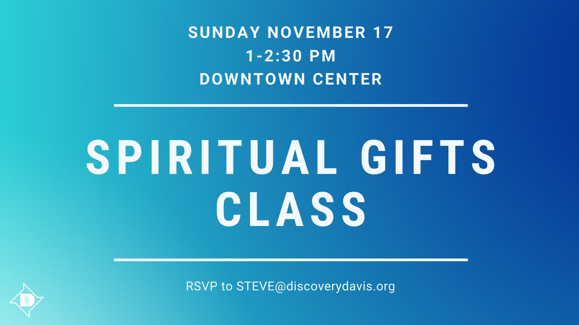 Spiritual Gifts Class image