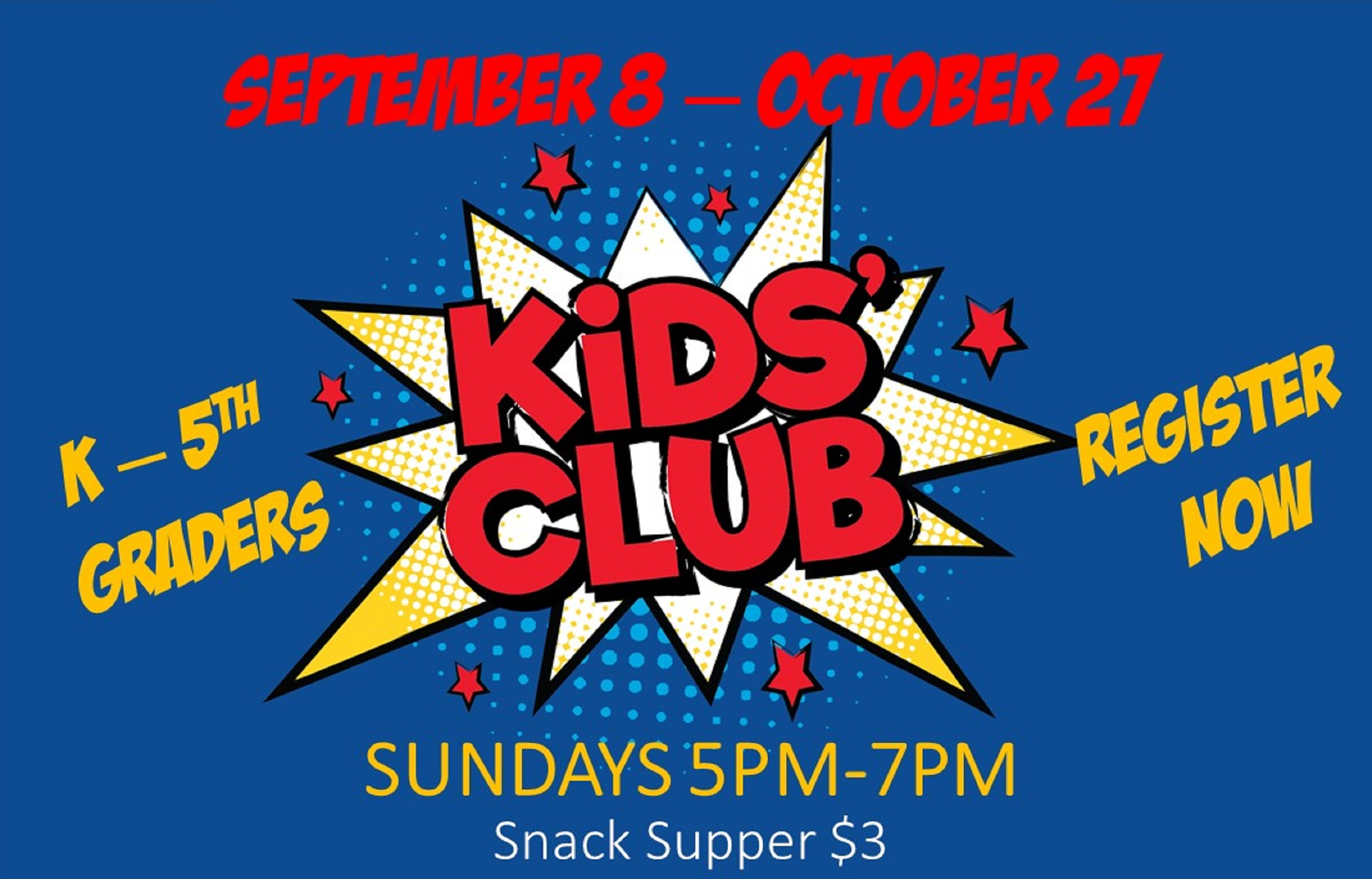 Kids Club Fall 2019 Rotator