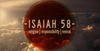 Isaiah 58: Religion | Responsibility | Revival banner