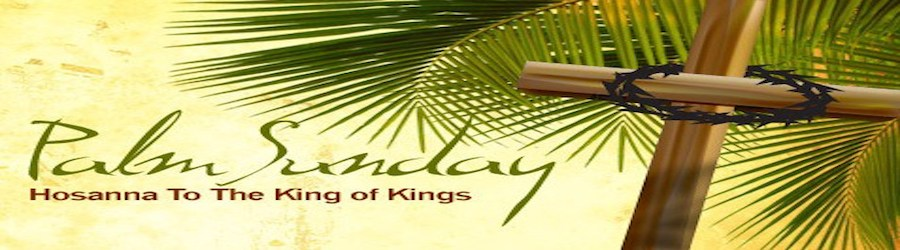Palm Sunday Service banner