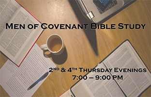 New Mens Bible Study Event