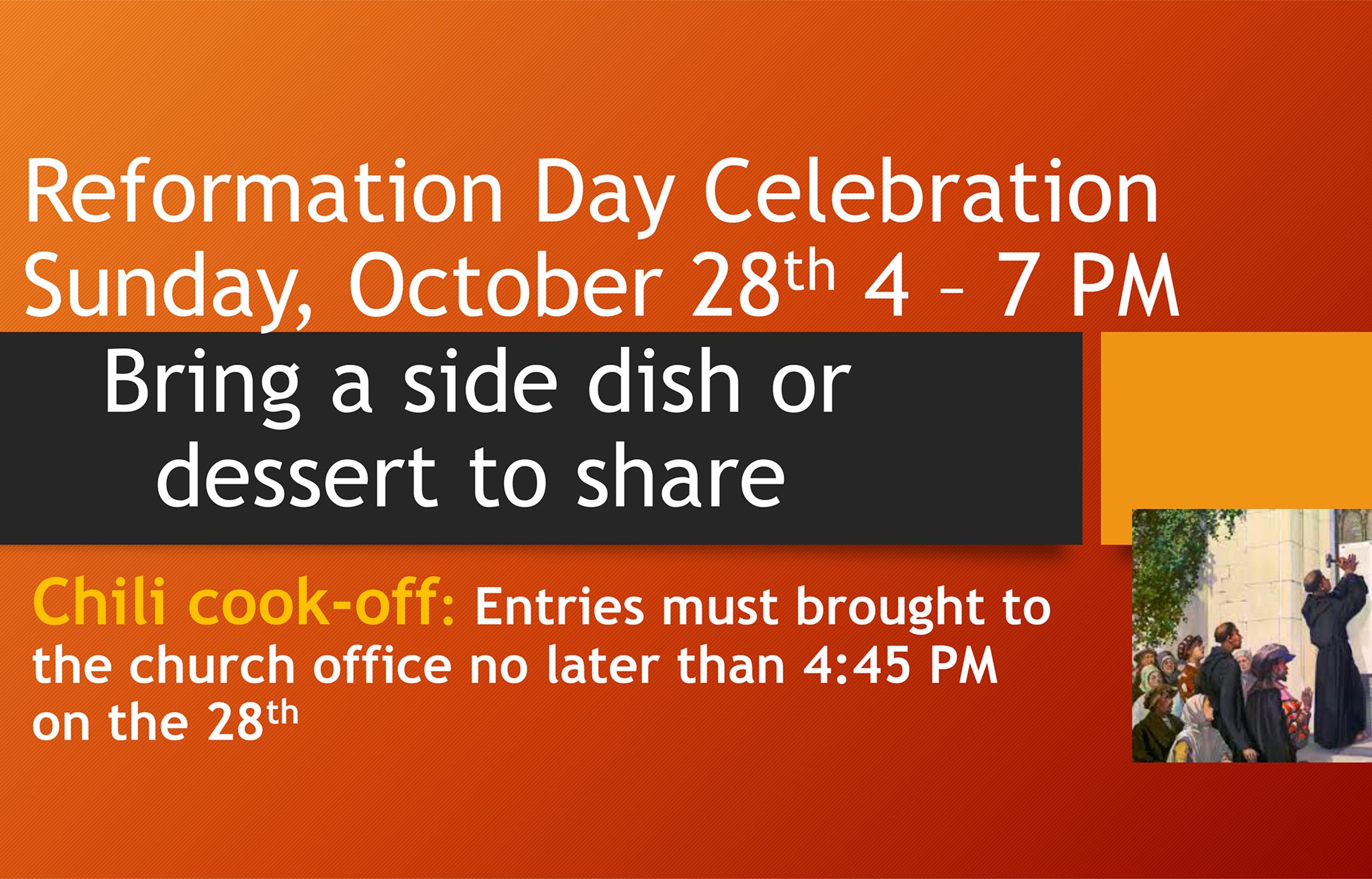 Reformation Celebration slider
