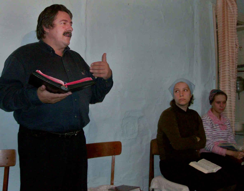 I preaching the gospel in  village