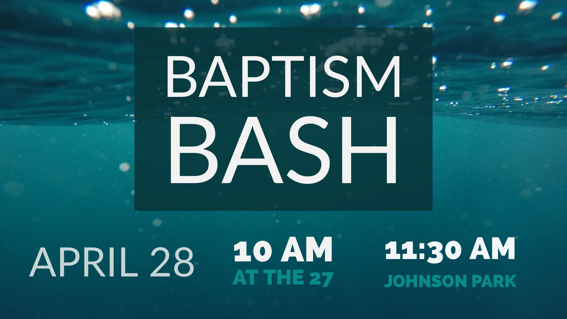 baptism bash gathering space image