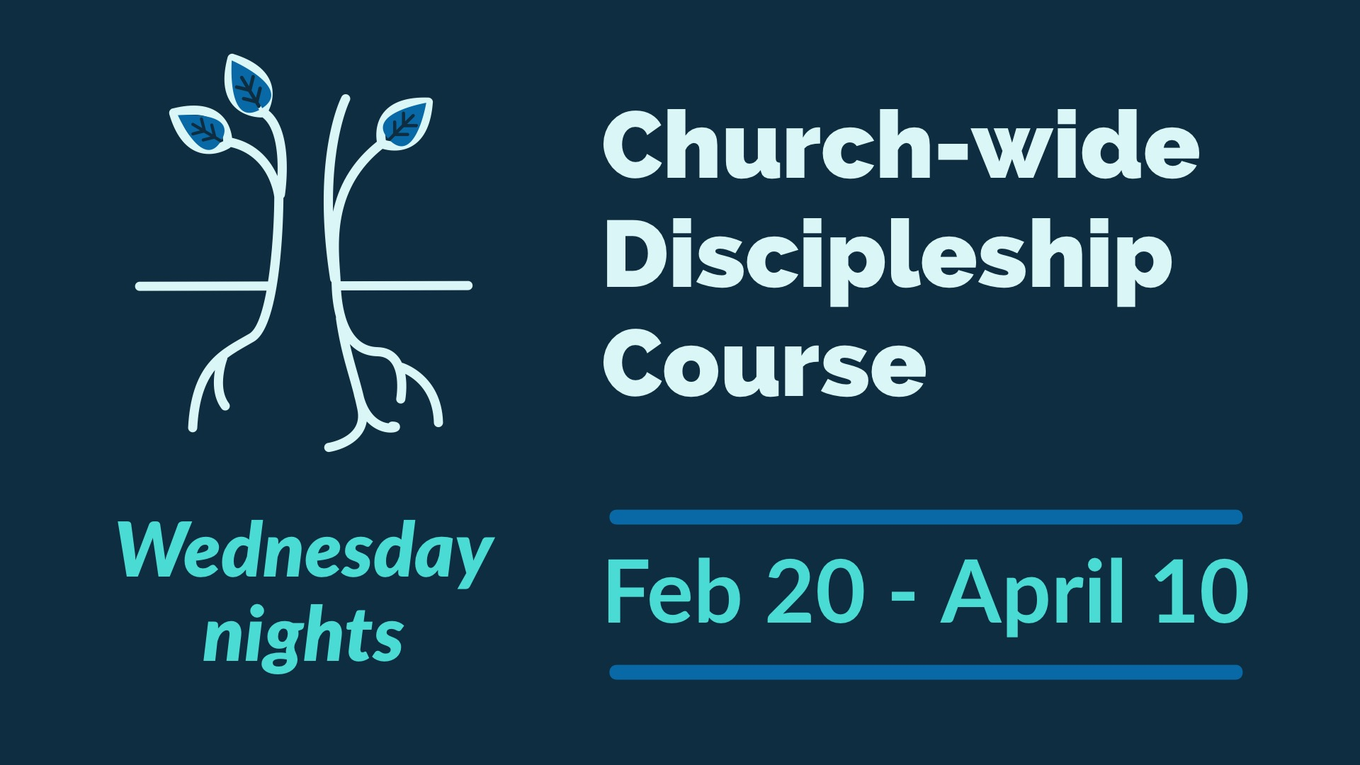 Discipleship Course spring gathering space image