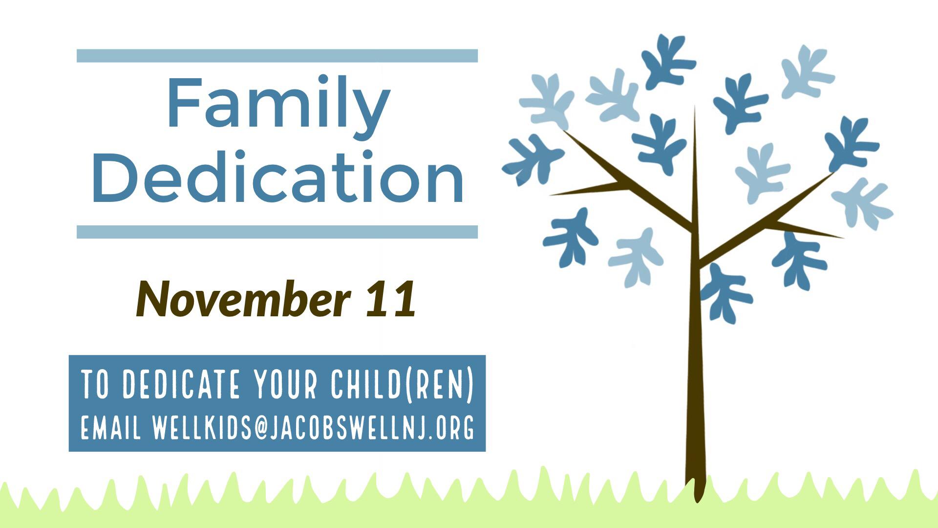 Family Dedication Fall 2018 image