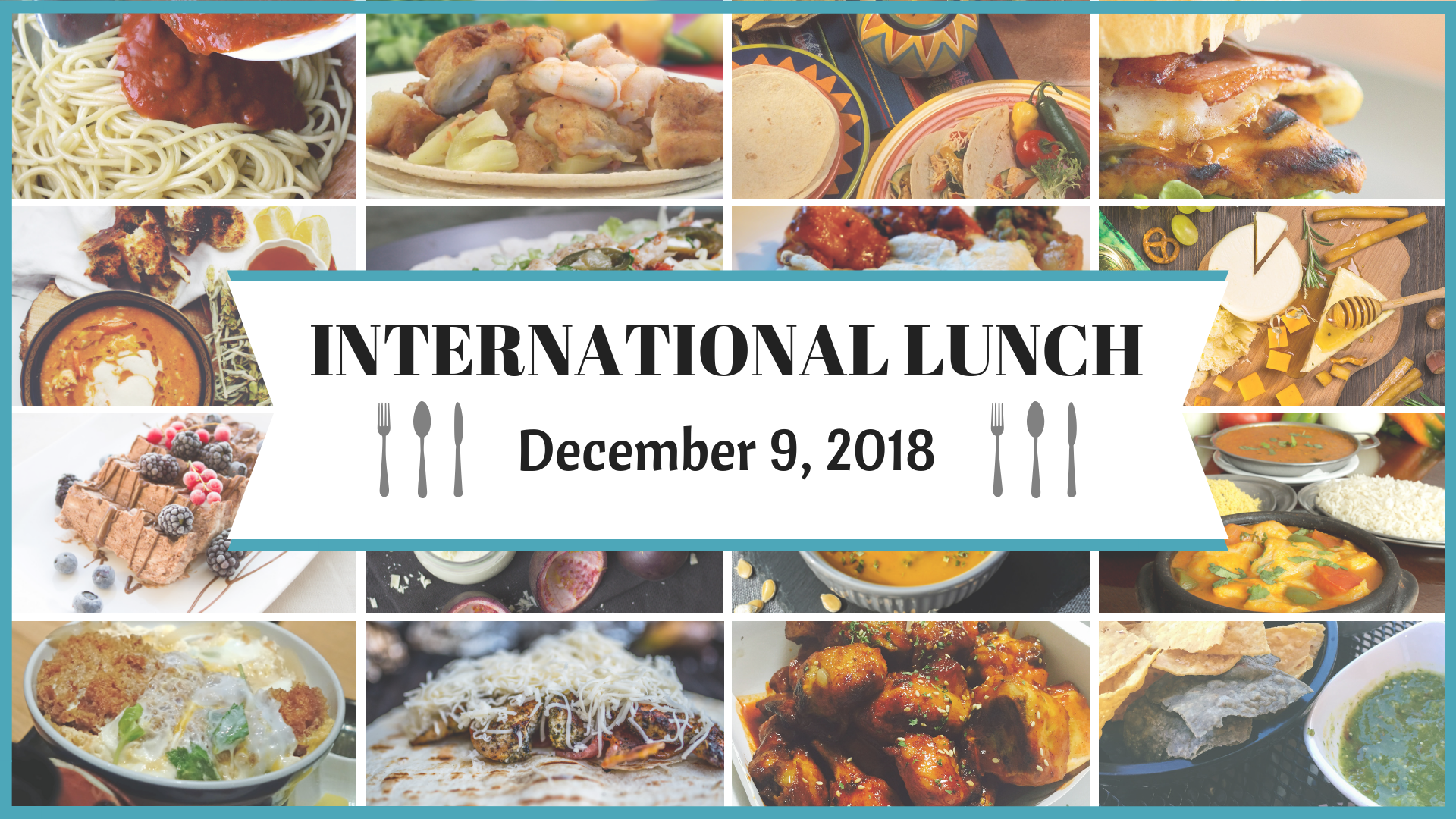 international lunch graphic gathering space image