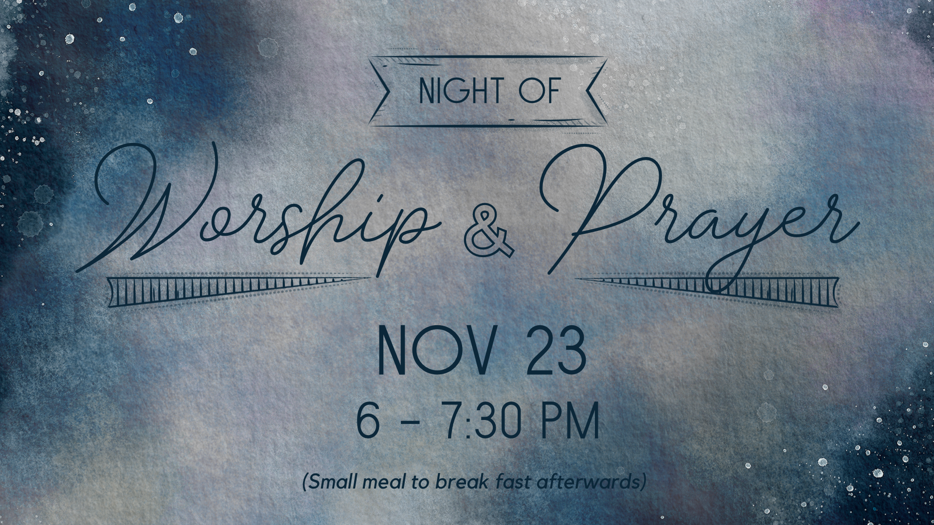Night of Worship and Prayer GS Nov 2019