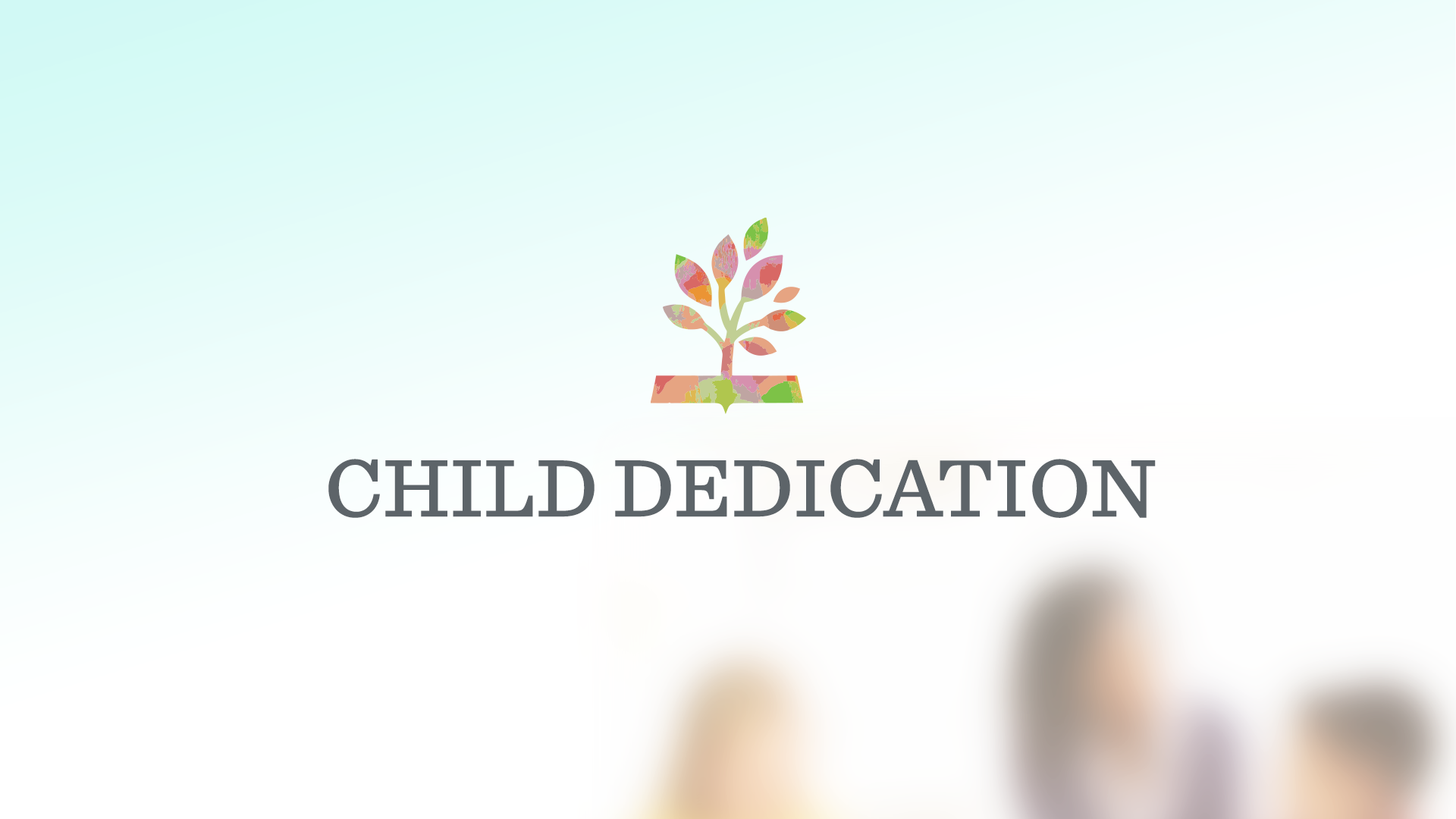ChildDedication Graphic image