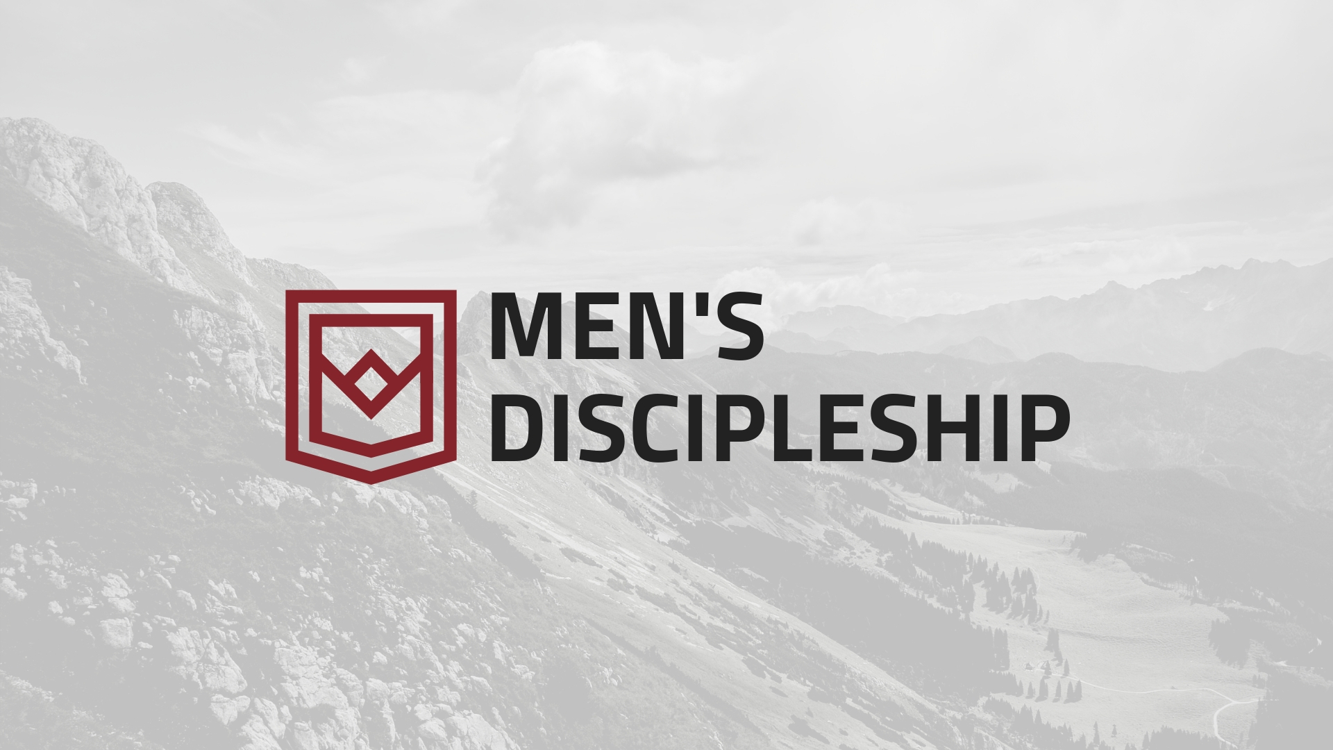 Men's discipleship 2019 slide image