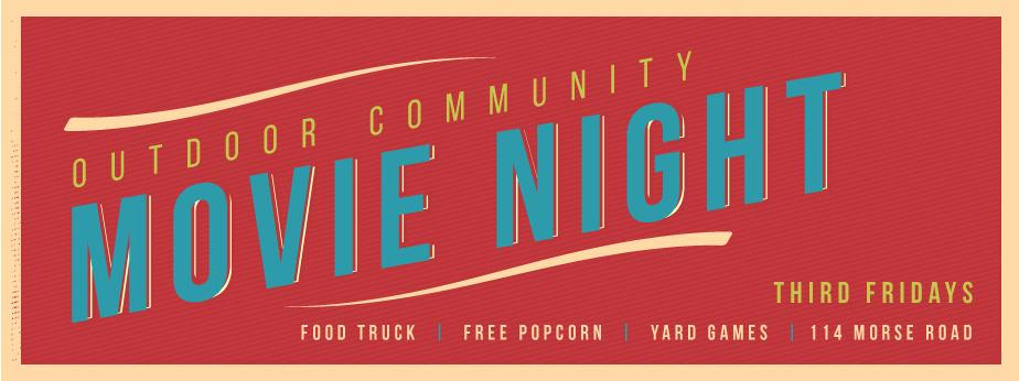 Outdoor Community Movie Nights! banner