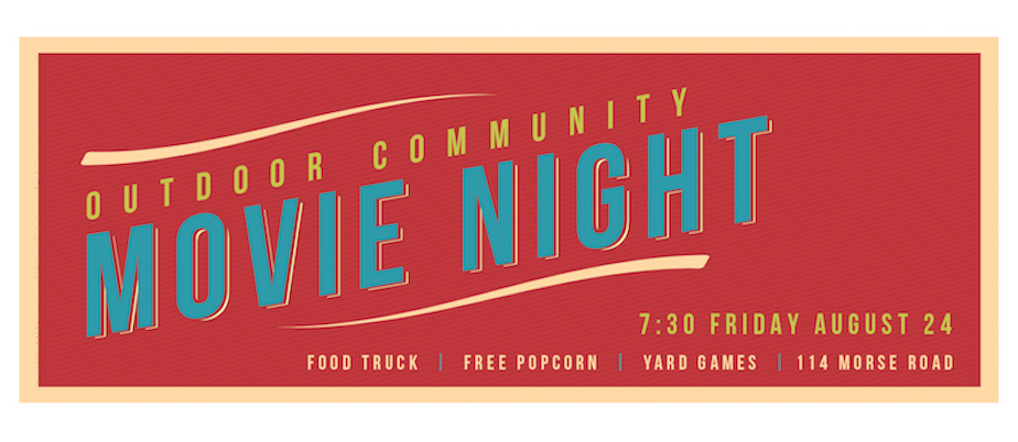Outdoor Community Movie Night banner