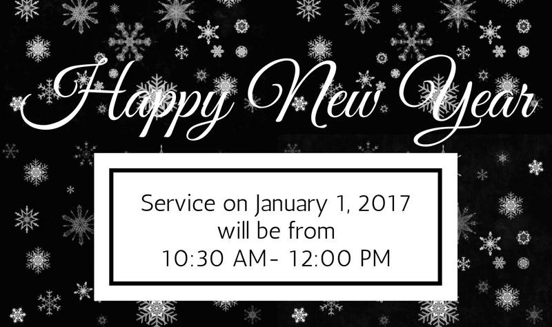 new years day service 1030 1200