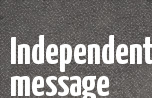 Independent message banner