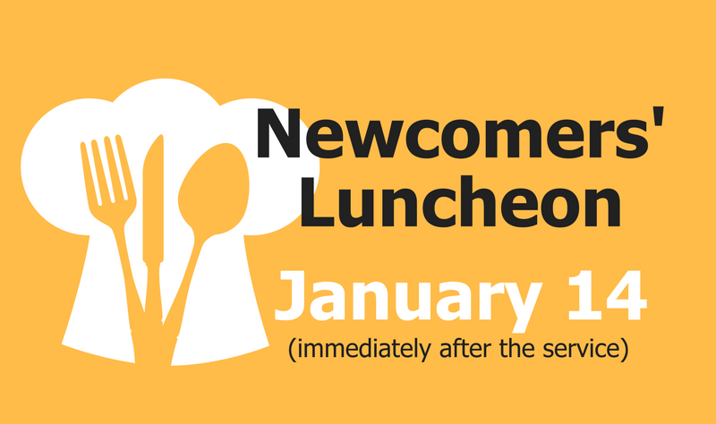 Newcomers' Lunch banner image