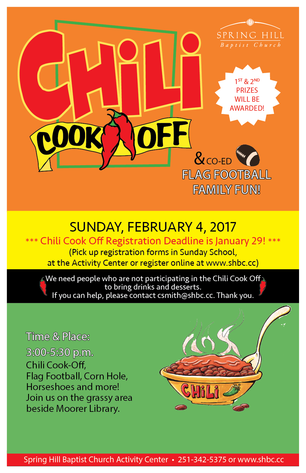 Chili Cookoff Poster 2018