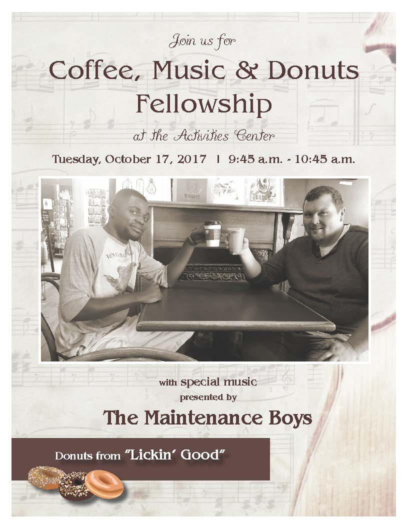 Coffee, Music & Donuts with The Maintenance Boys