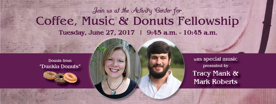 Coffee, Music & Donuts with Tracy and Mark rotator
