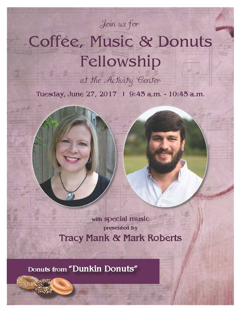 Coffee, Music & Donuts with Tracy and Mark