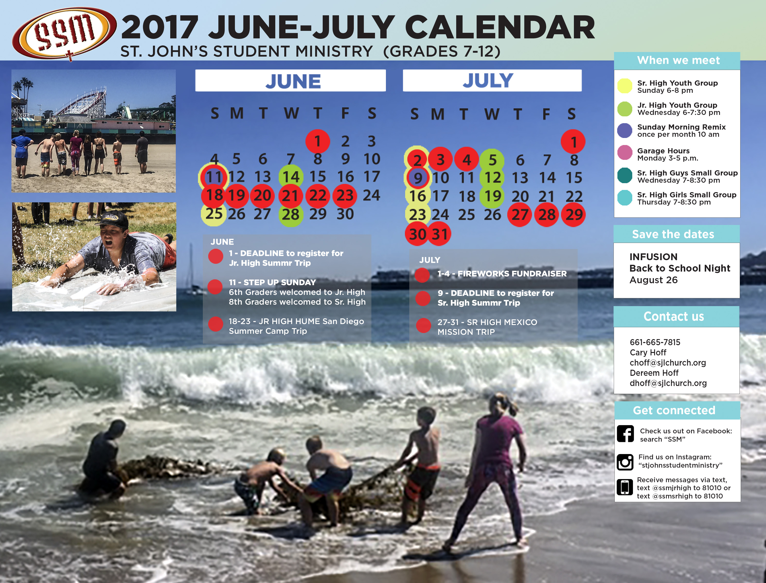 2017 June July Calendar TAKE 2