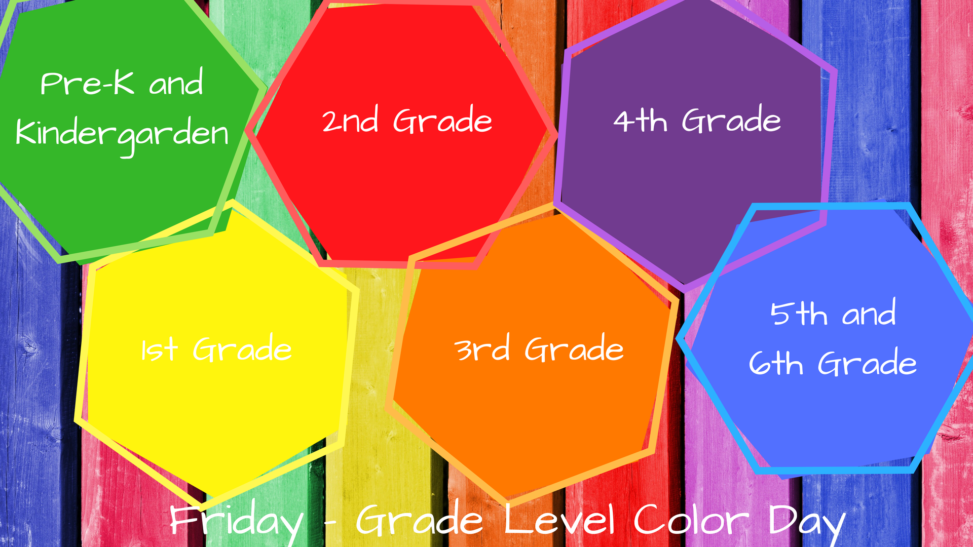FB Friday - grade level color day