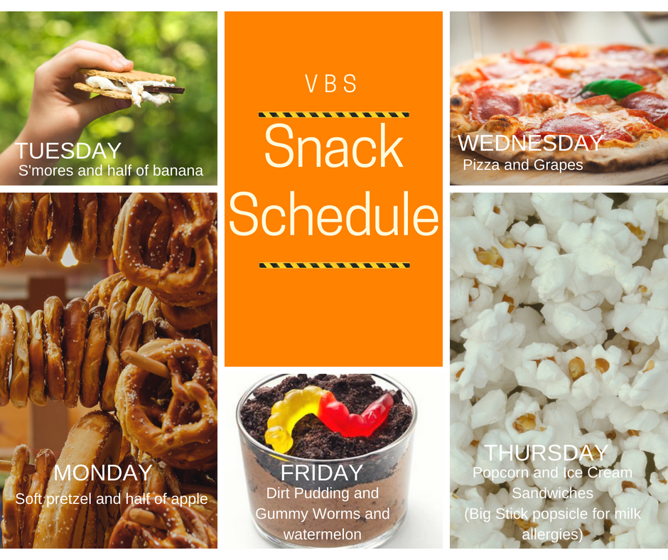 FB Post Size VBS Snack Schedule