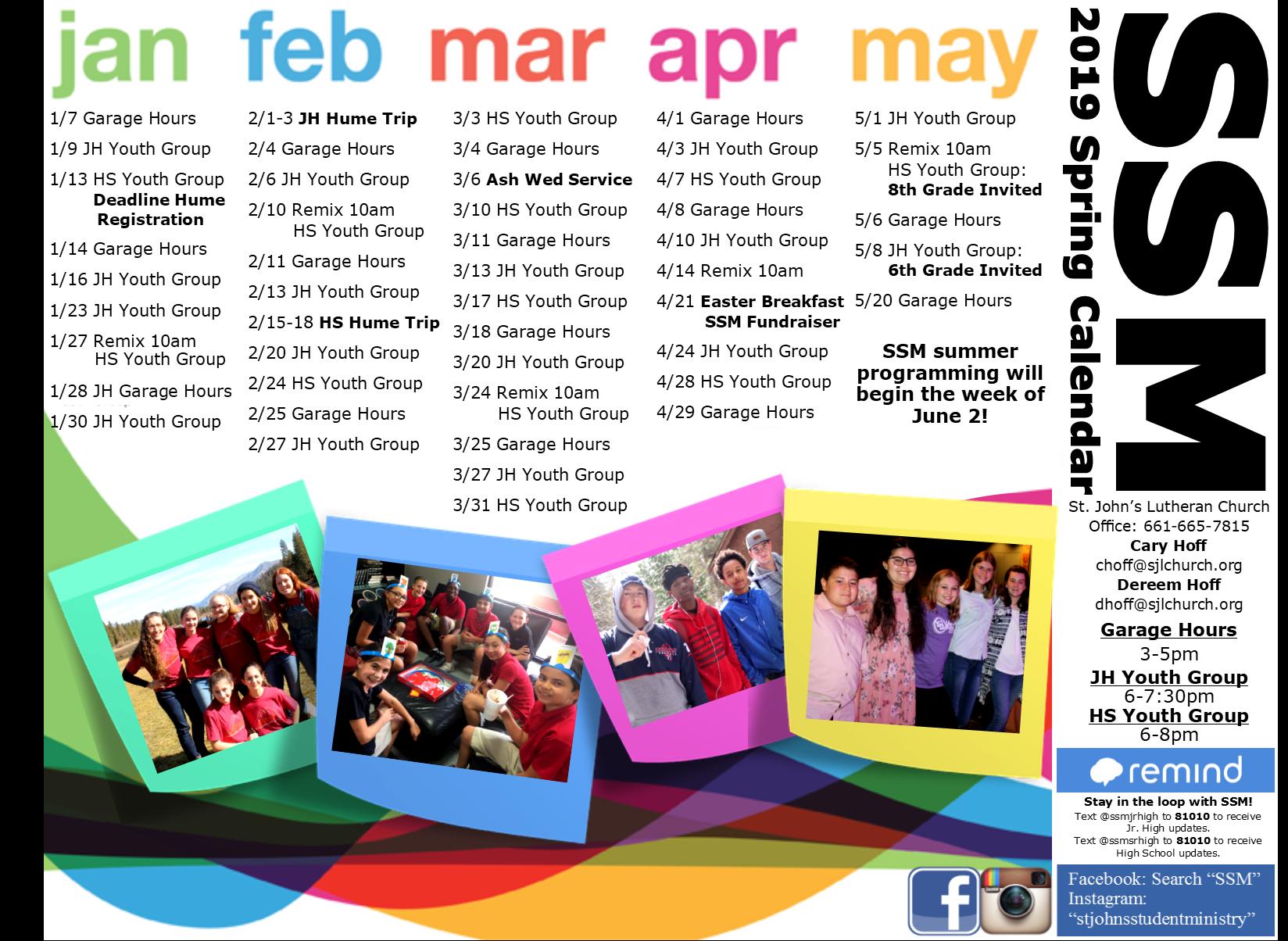 PNG Spring 19 Calendar