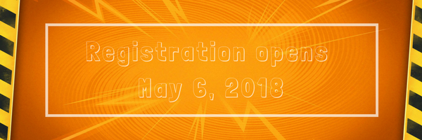 Registration opens May 6, 2018
