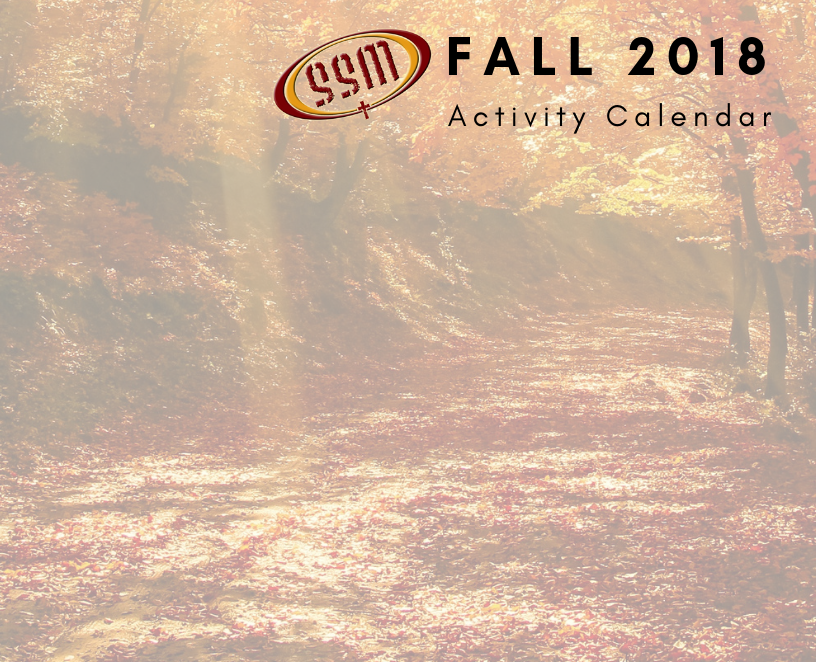 SSM FALL CALENDAR cover image