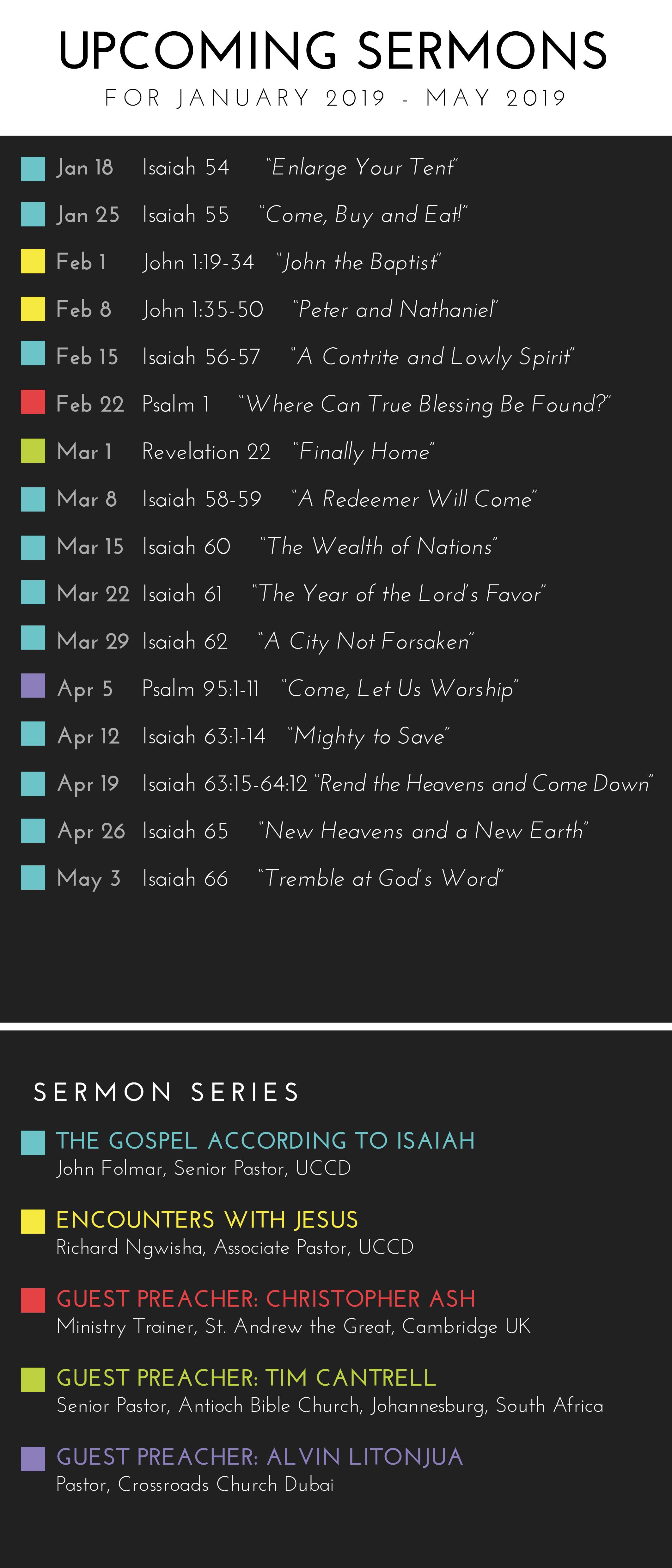 Sermon Card Spring 2019