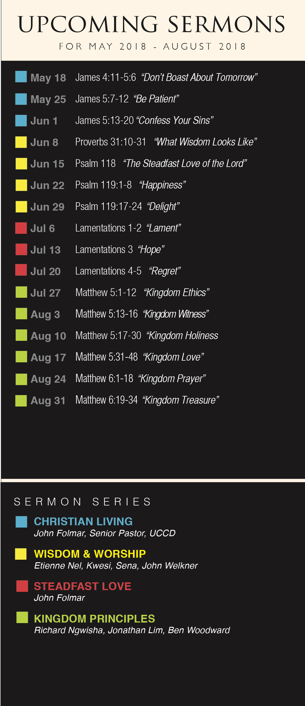Sermon Card Summer 2018