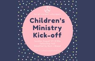 children's ministrykick-off