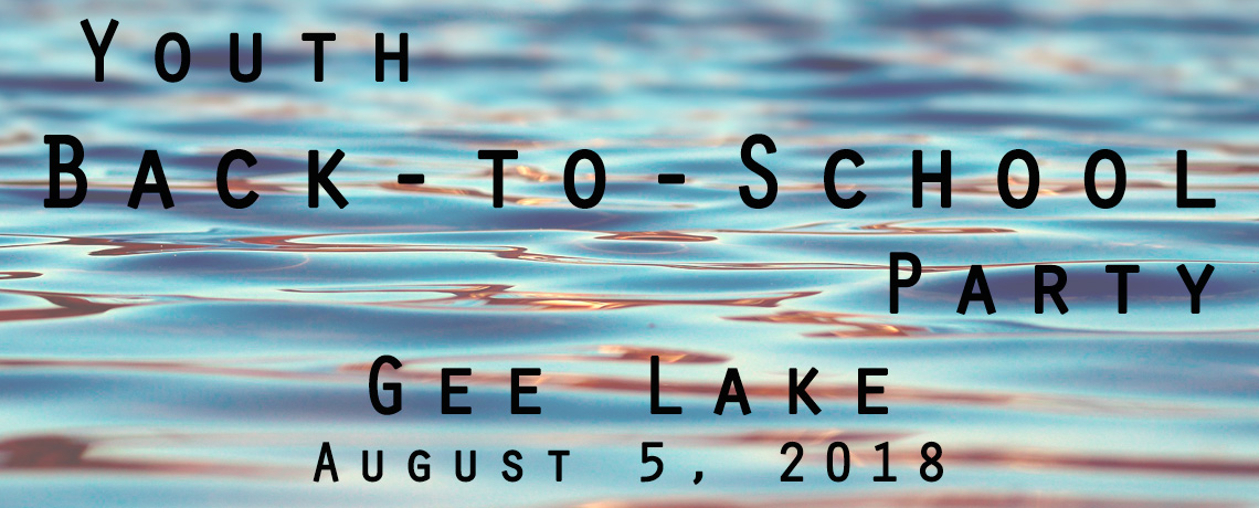 Back to School Lake Party